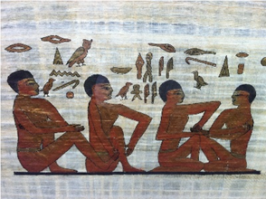 Early Egyptian tomb drawing found in Physicians tomb.